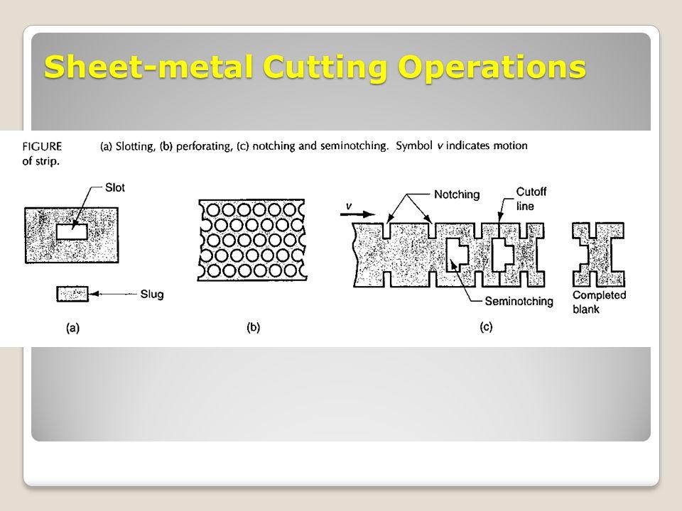 Sheet-metal Cutting Operations