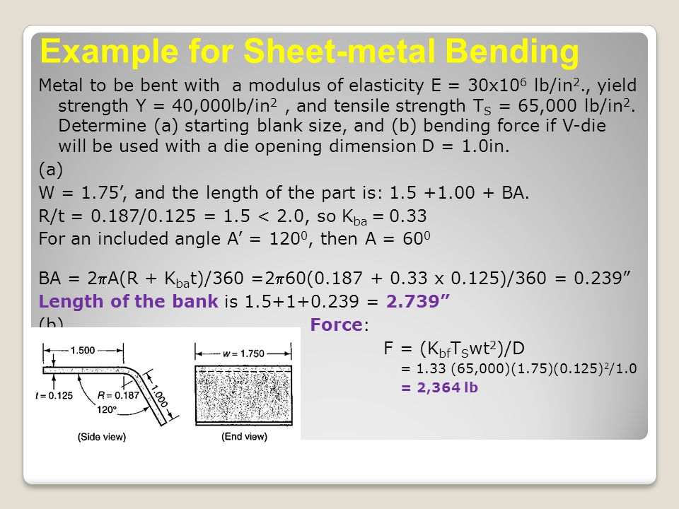 Example for Sheet-metal Bending
