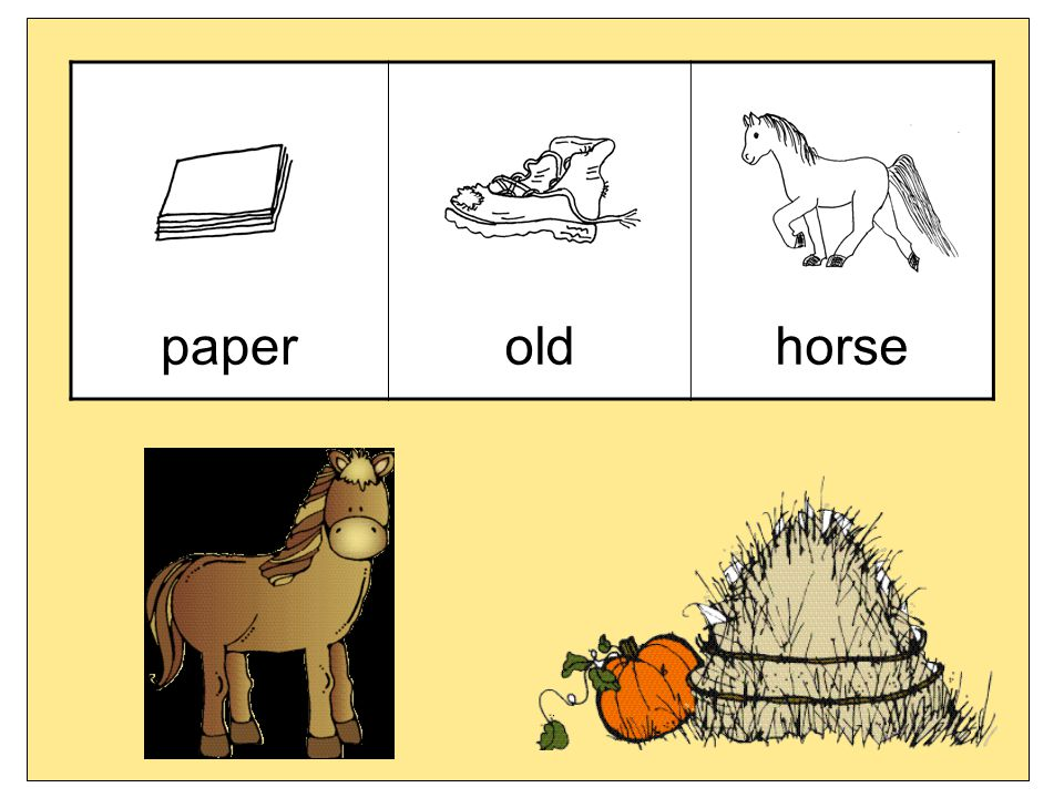 paper old horse