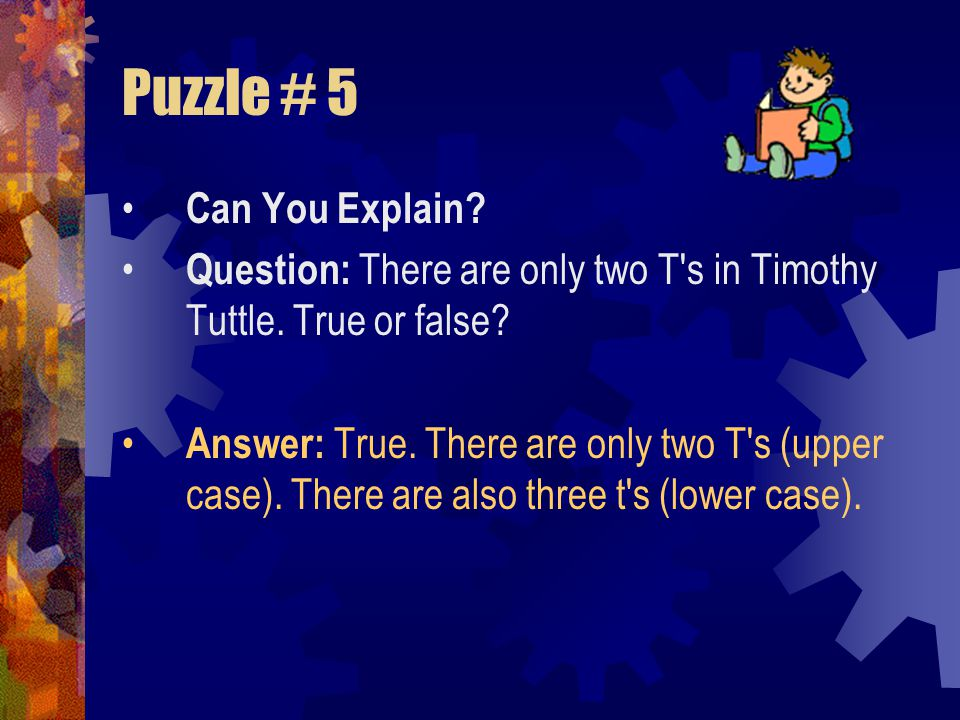 Puzzle # 5 Can You Explain