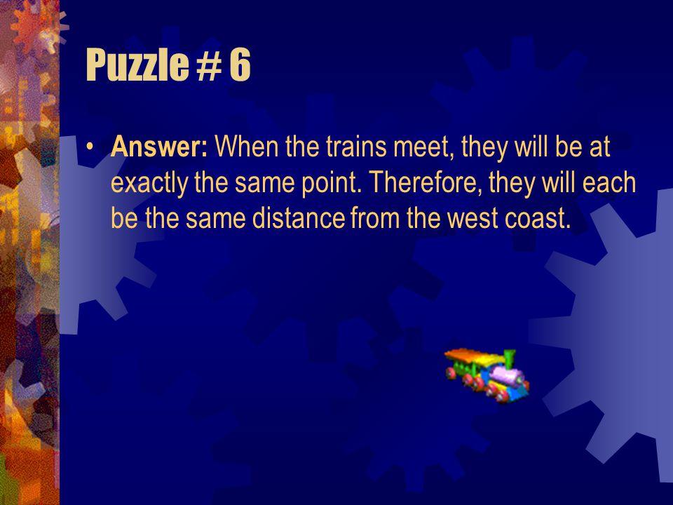 Puzzle # 6