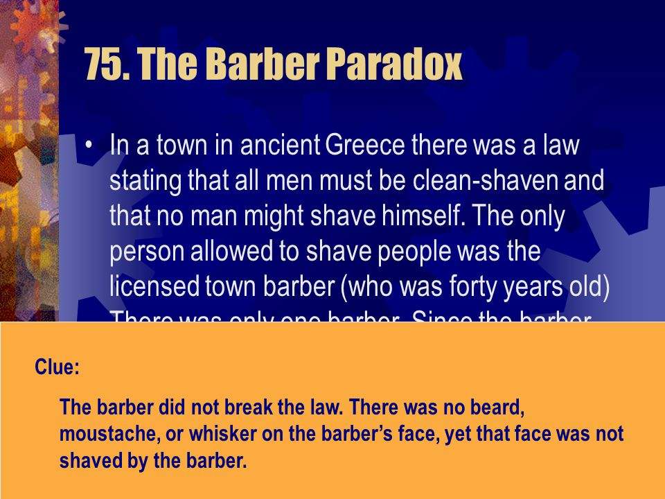 75. The Barber Paradox