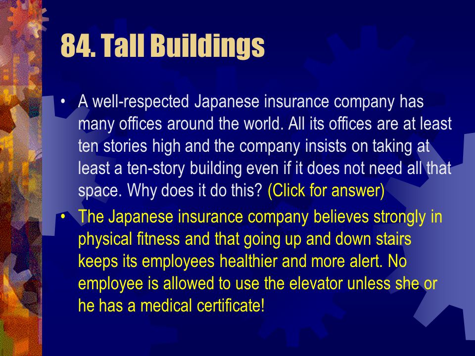 84. Tall Buildings