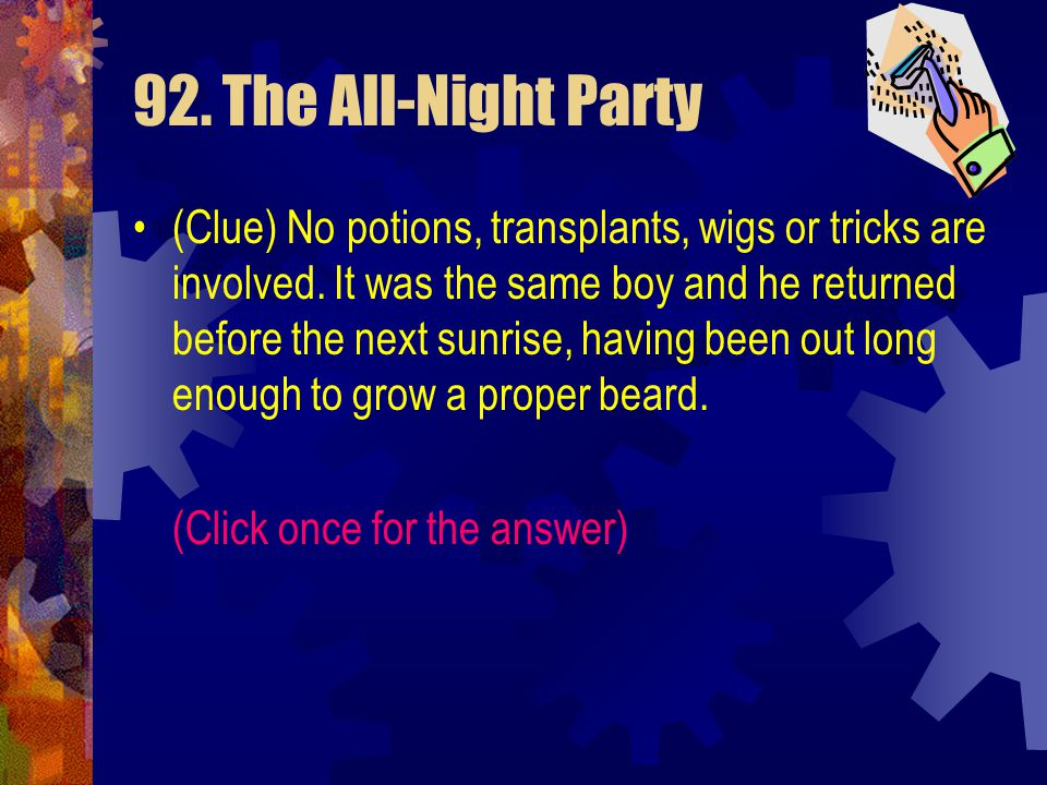 92. The All-Night Party