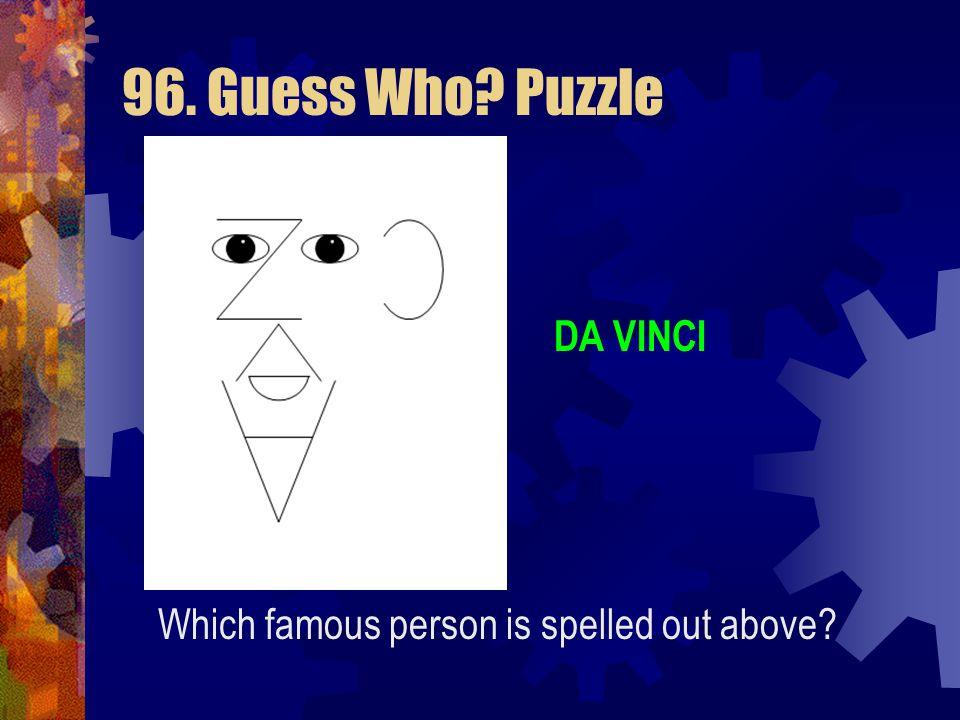 96. Guess Who Puzzle DA VINCI