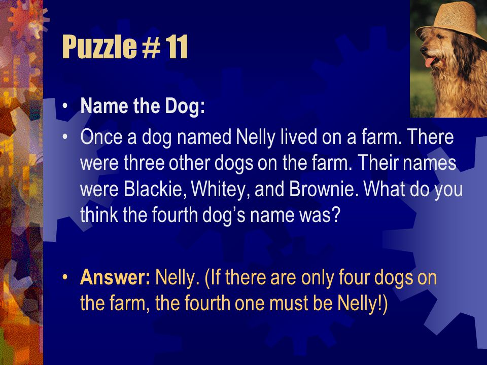 Puzzle # 11 Name the Dog: