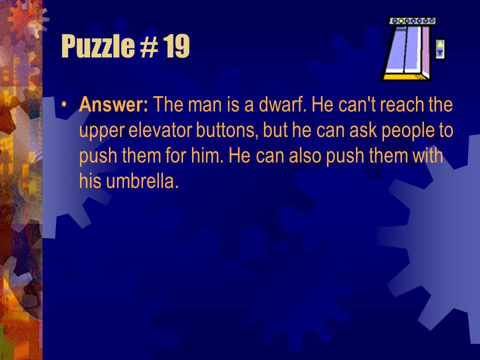 Puzzle # 19