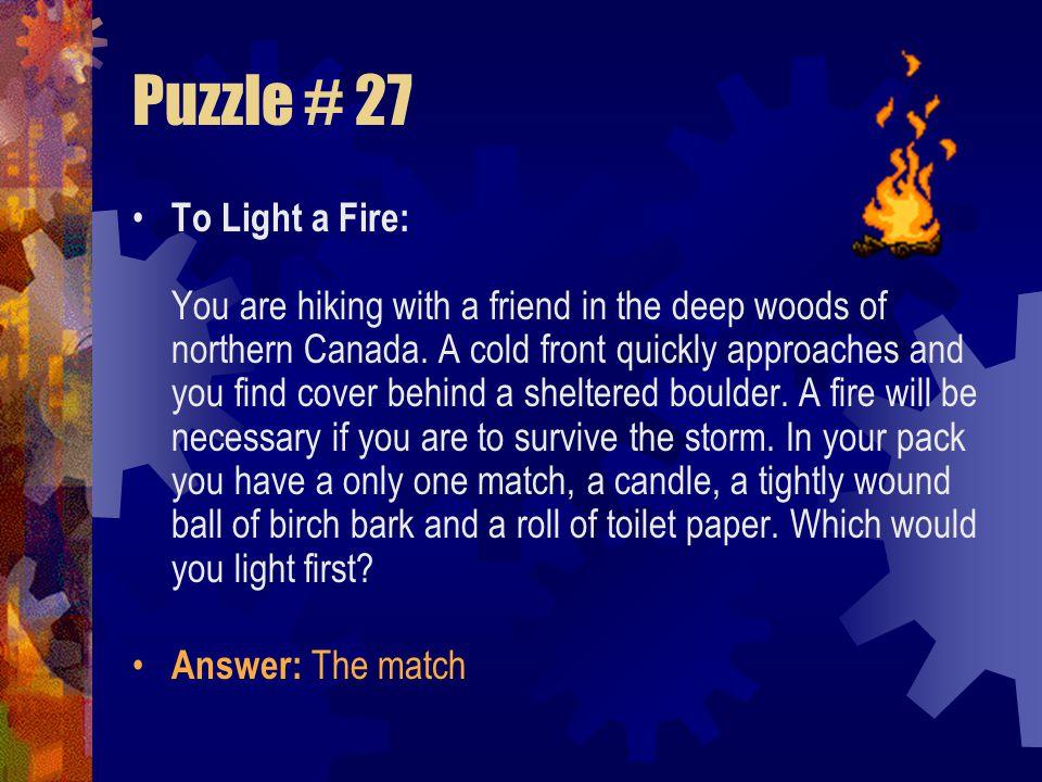 Puzzle # 27