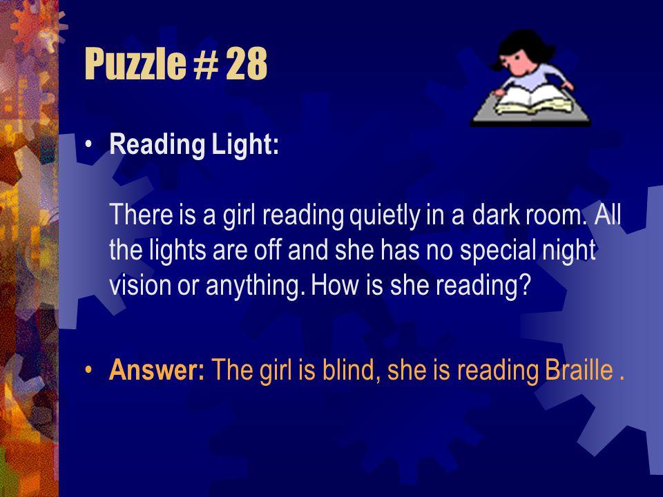 Puzzle # 28