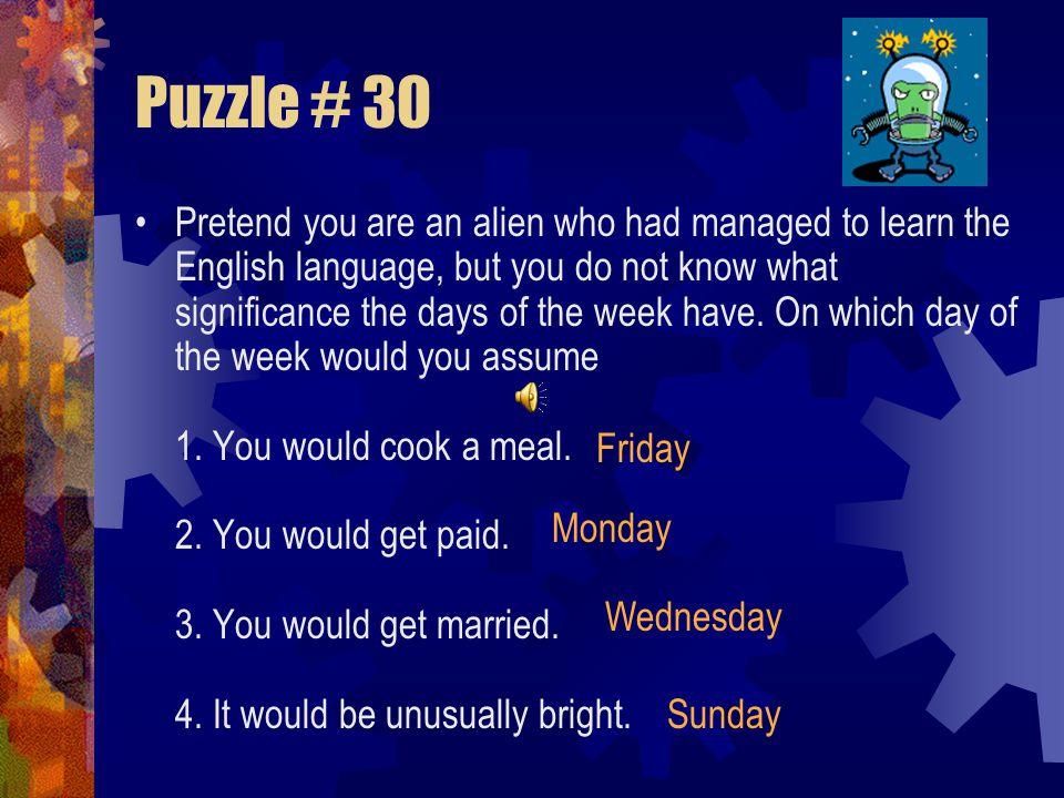 Puzzle # 30
