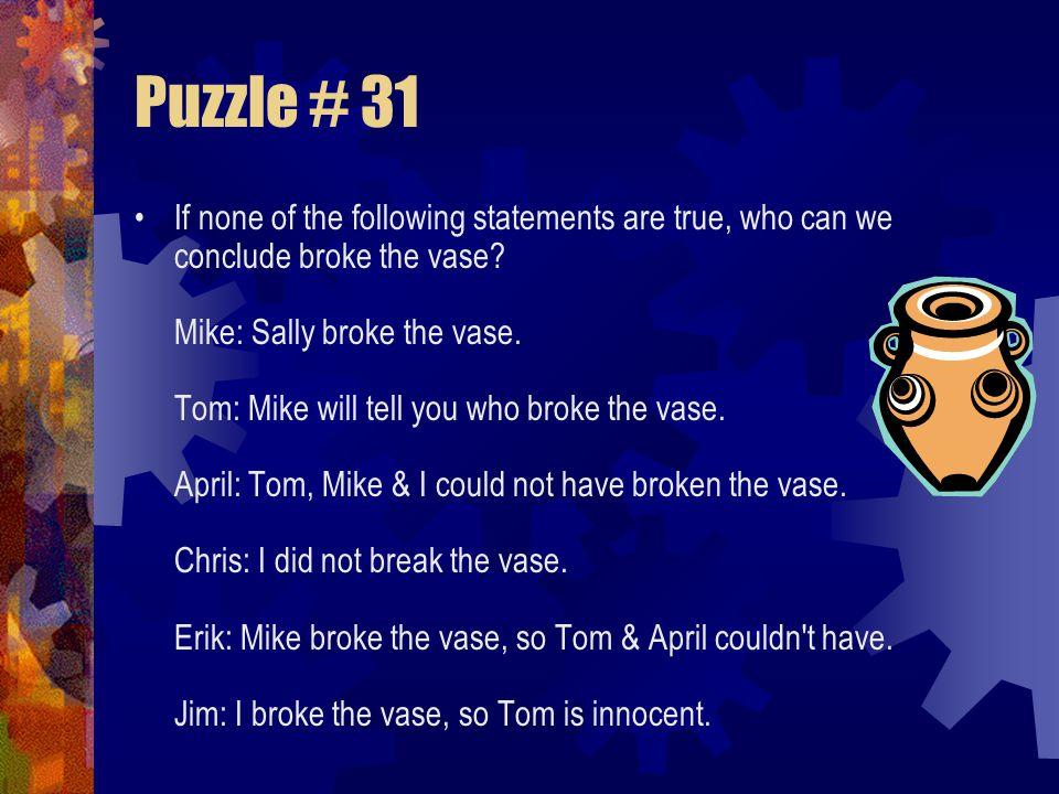 Puzzle # 31