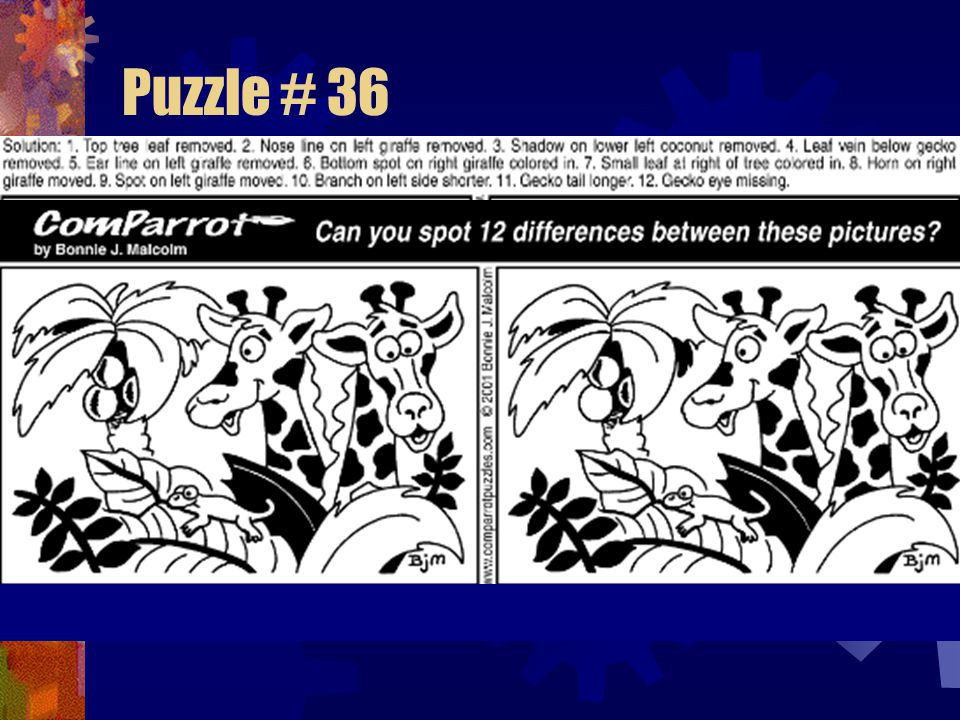 Puzzle # 36