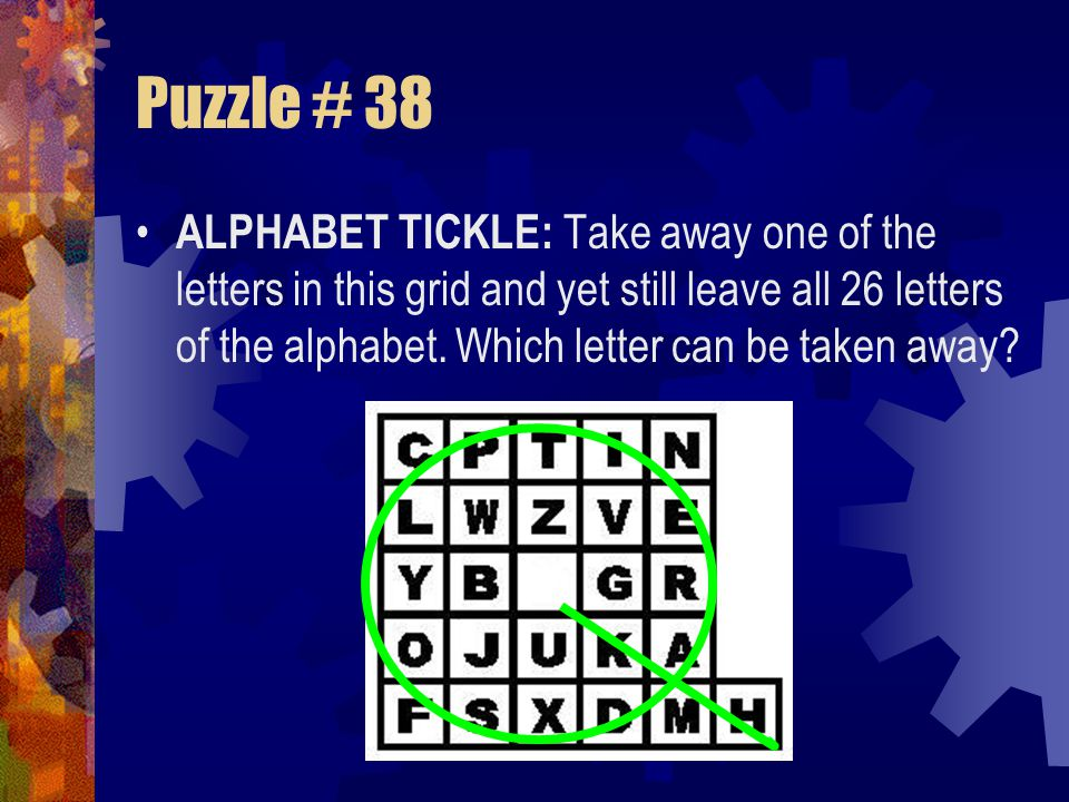 Puzzle # 38