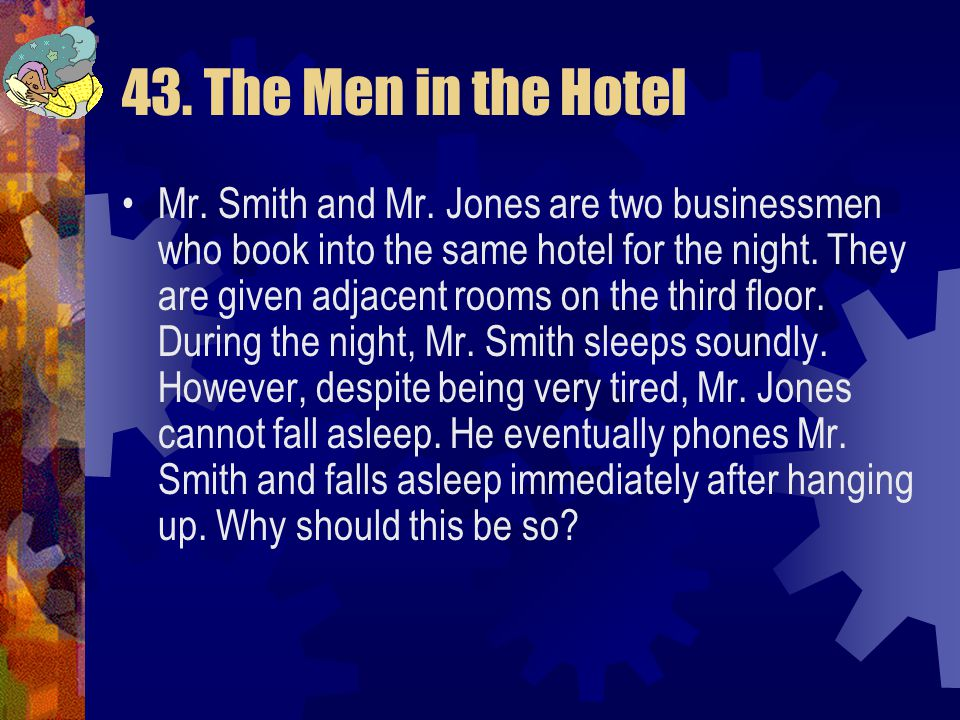 43. The Men in the Hotel