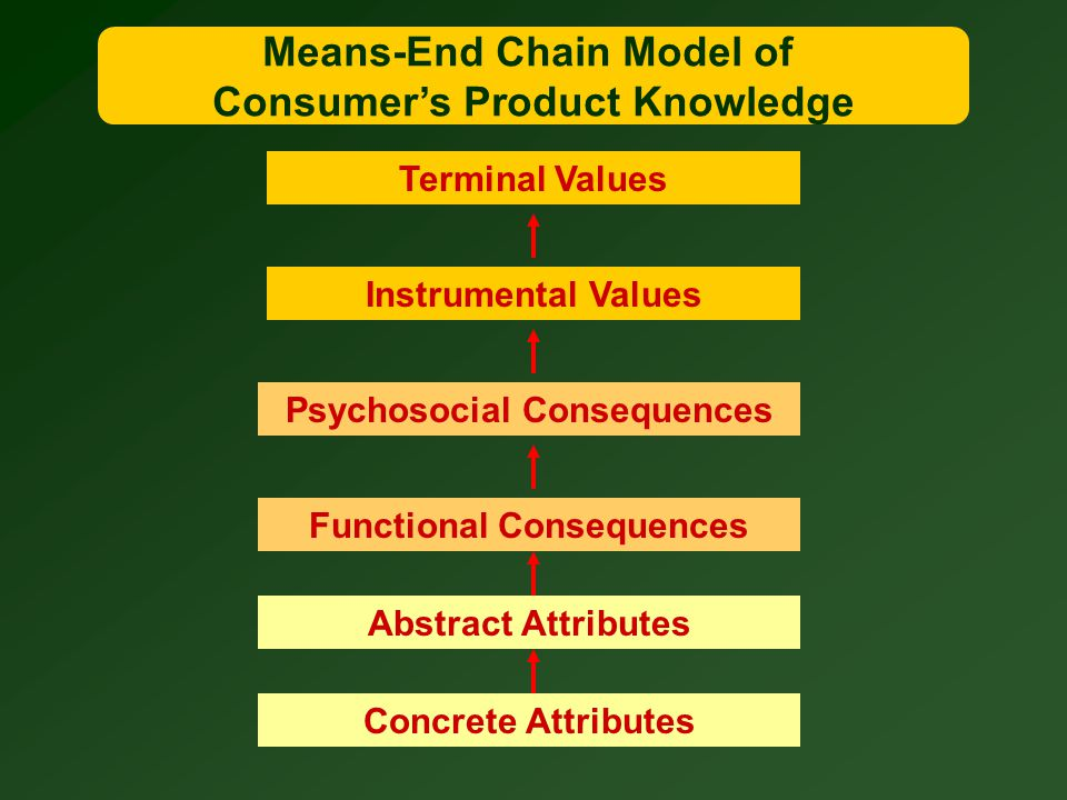 Means-End Chain Model of Consumer's Product Knowledge