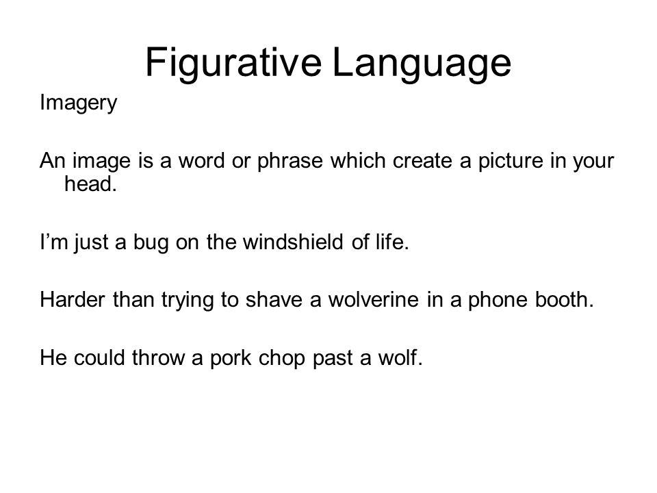 Figurative Language Imagery