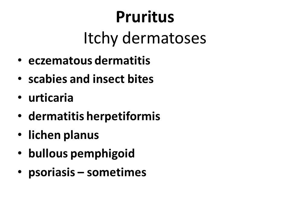 Pruritus Itchy dermatoses