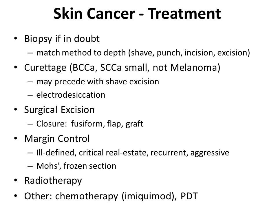 Skin Cancer - Treatment