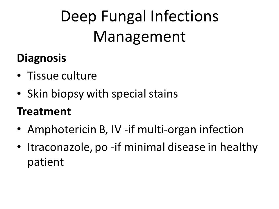 Deep Fungal Infections Management