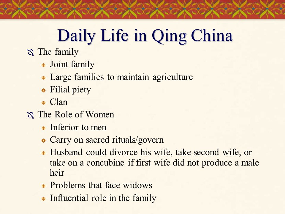 Daily Life in Qing China