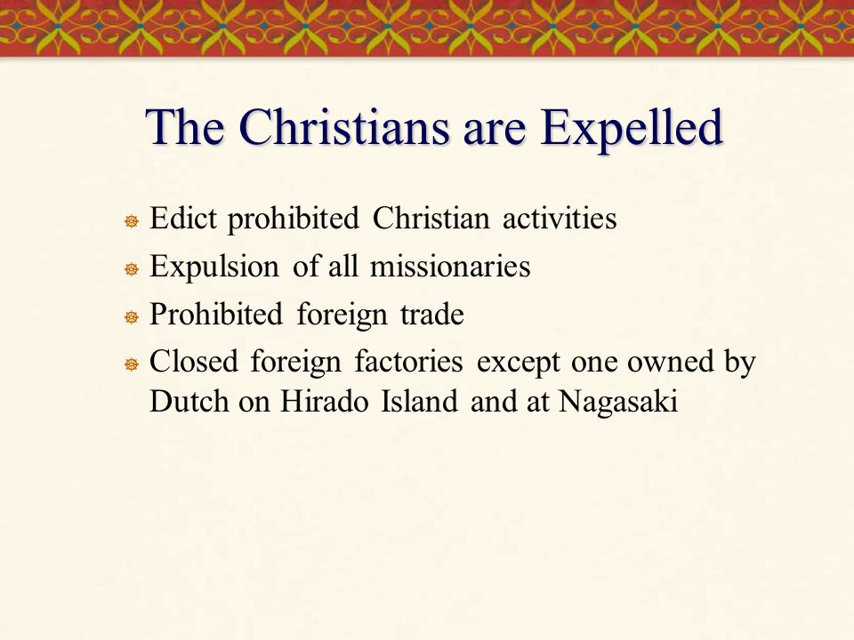 The Christians are Expelled
