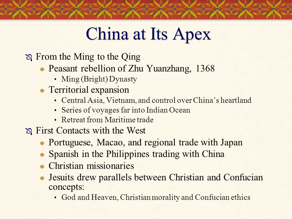 China at Its Apex From the Ming to the Qing