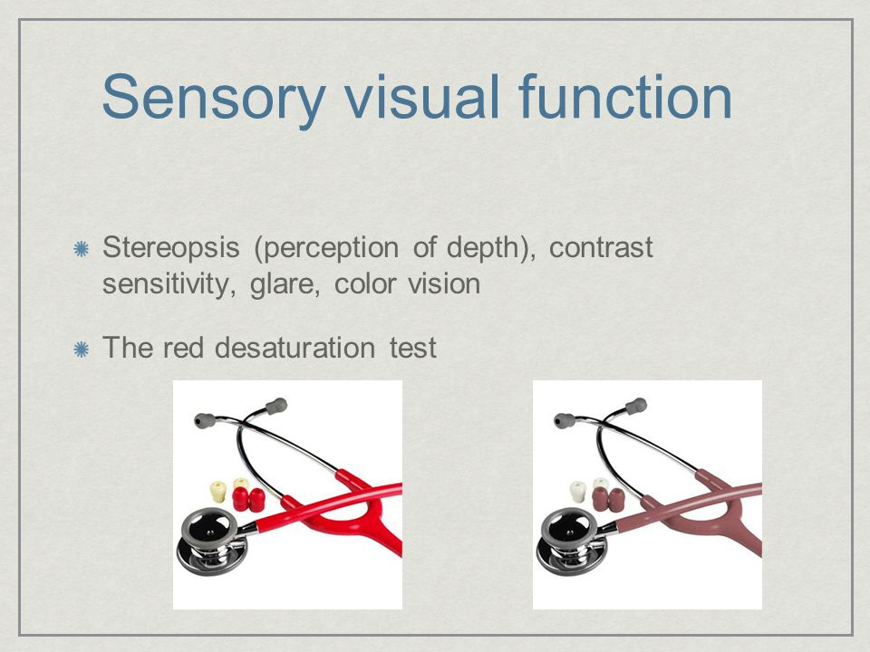 Sensory visual function