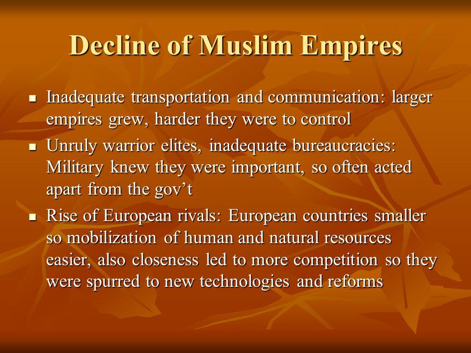 Decline of Muslim Empires