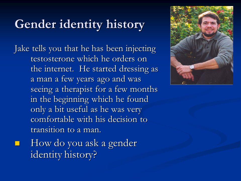 Gender identity history