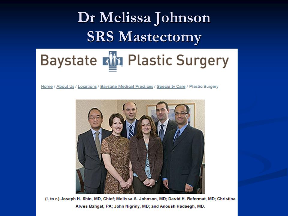 Dr Melissa Johnson SRS Mastectomy