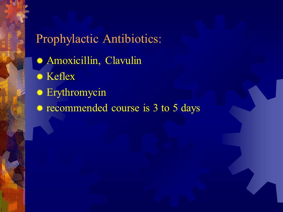 Prophylactic Antibiotics: