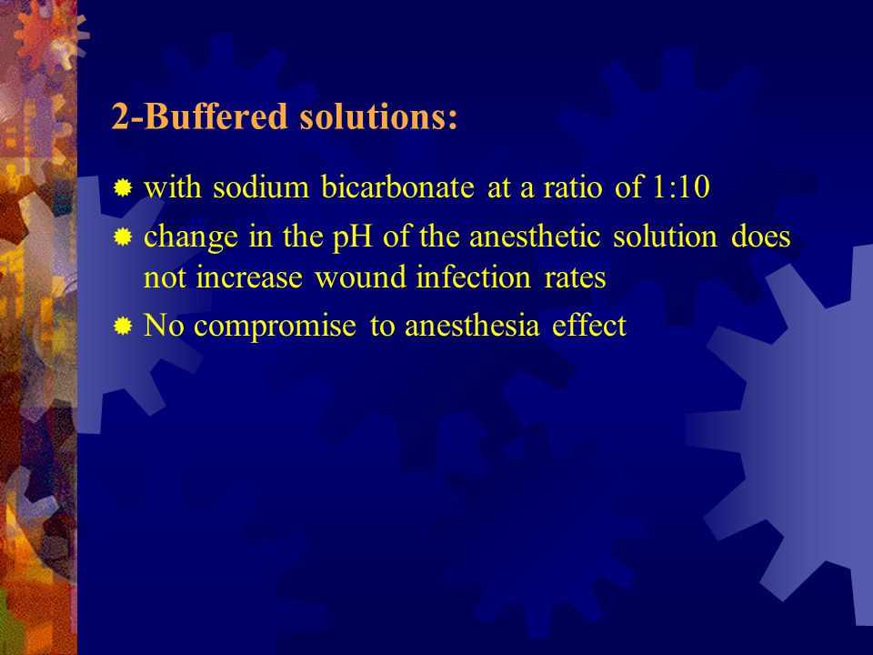 2-Buffered solutions: with sodium bicarbonate at a ratio of 1:10