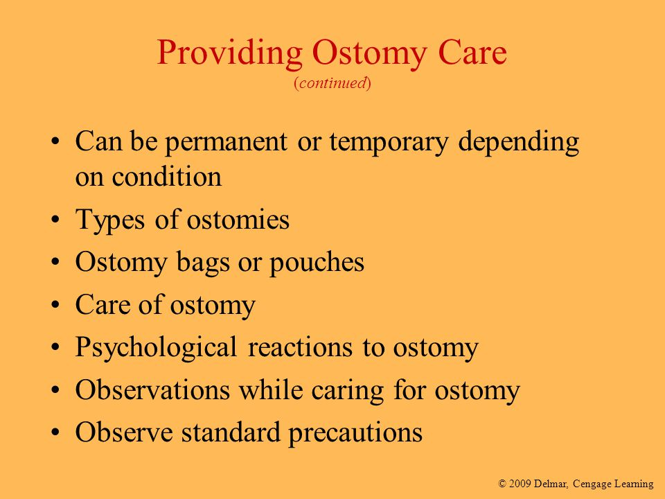 Providing Ostomy Care (continued)