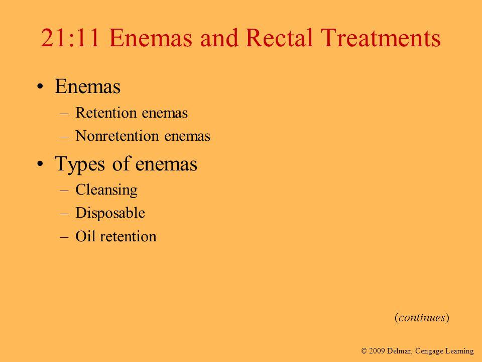 21:11 Enemas and Rectal Treatments