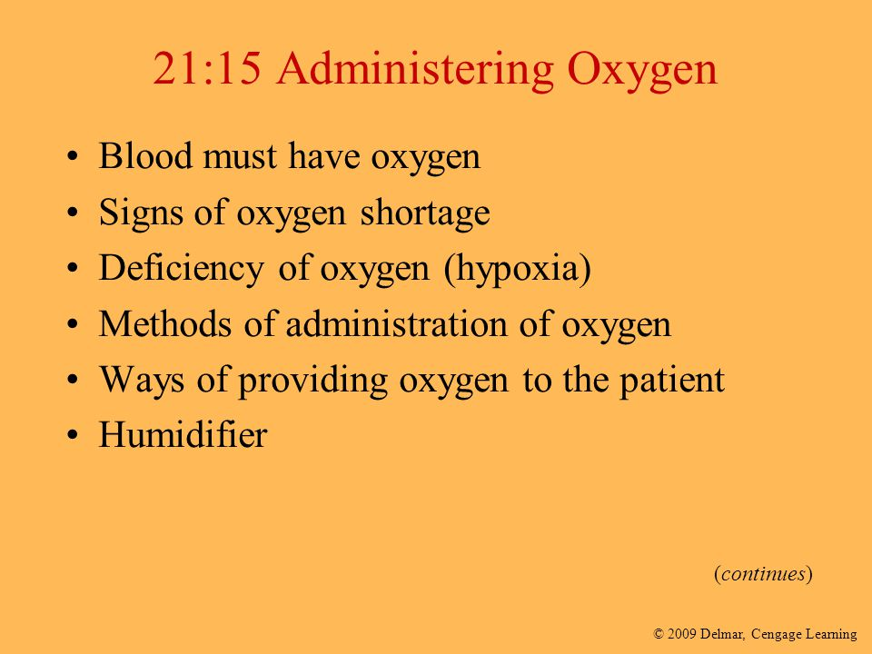 21:15 Administering Oxygen