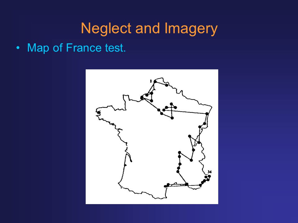 Neglect and Imagery Map of France test.