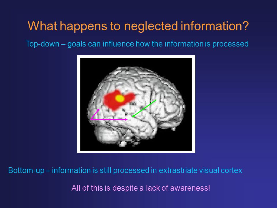 What happens to neglected information