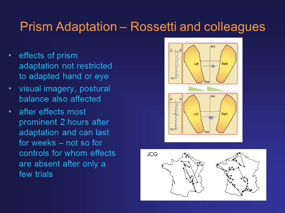 Prism Adaptation – Rossetti and colleagues