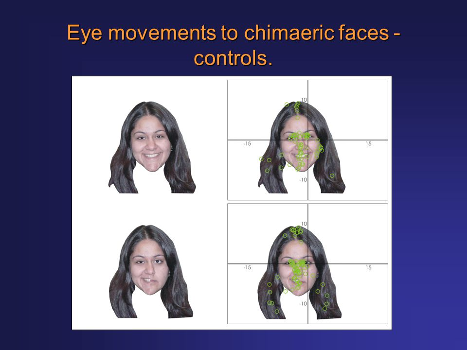 Eye movements to chimaeric faces - controls.
