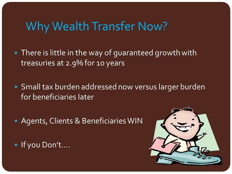 Why Wealth Transfer Now