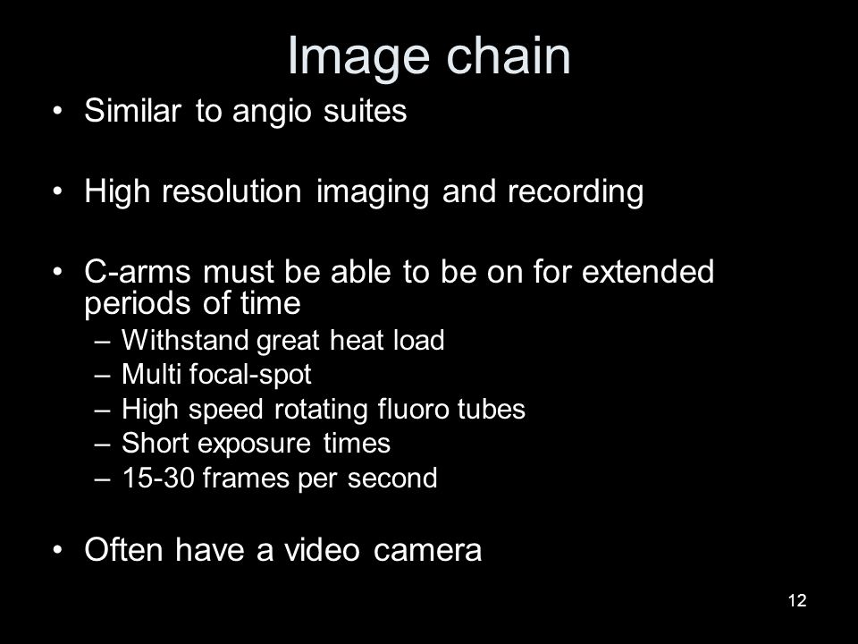 Image chain Similar to angio suites
