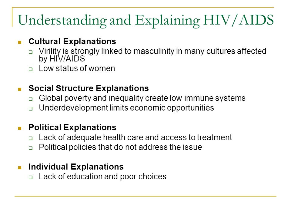 Understanding and Explaining HIV/AIDS
