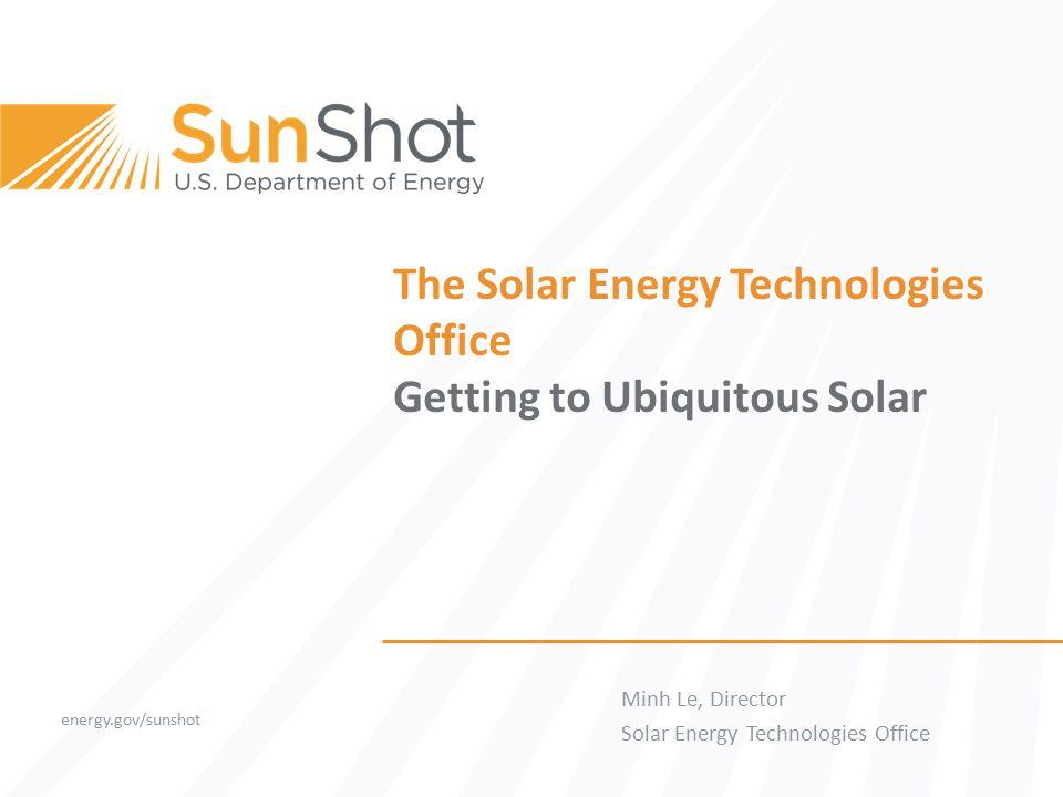 SunShot Price SunShot Initiative SunShot Initiative