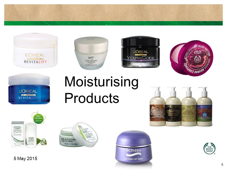Moisturising Products
