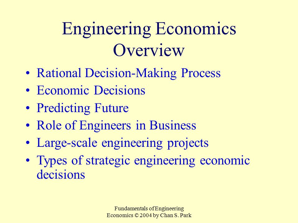 Engineering Economics Overview