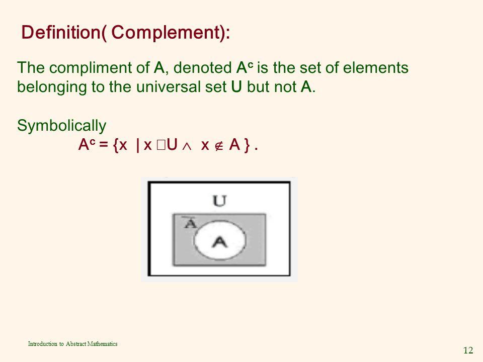 Definition( Complement):