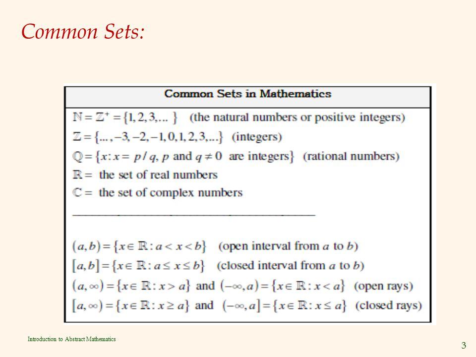 Common Sets: