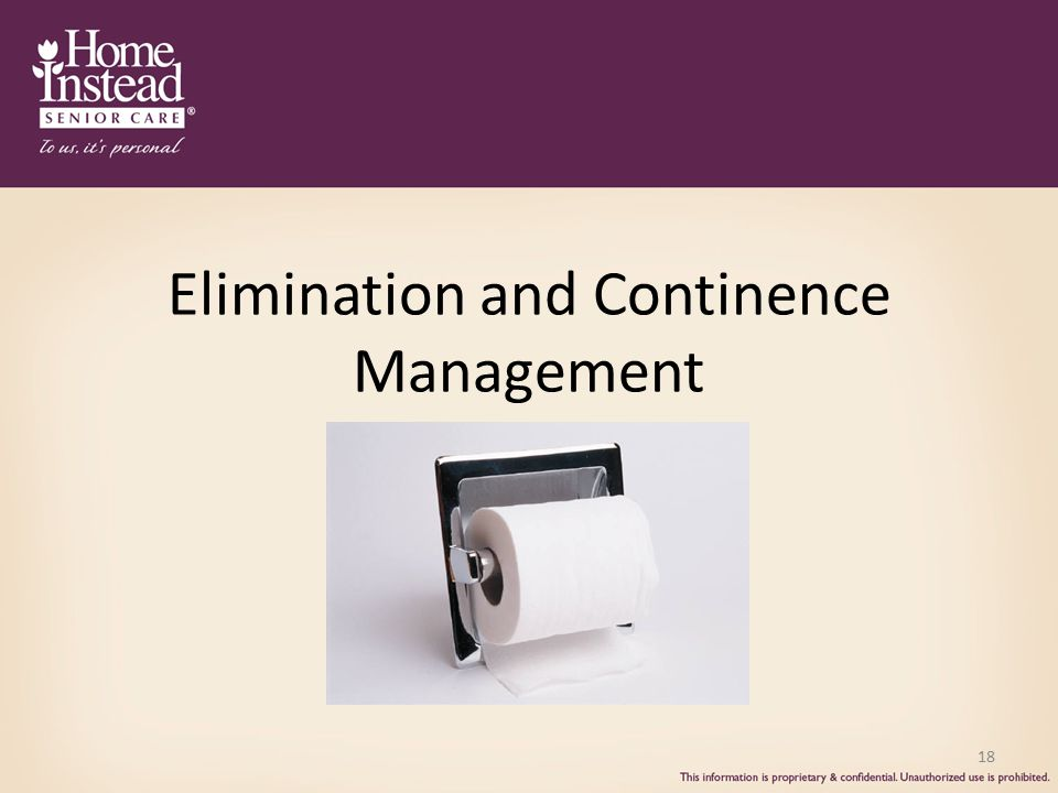 Elimination and Continence Management