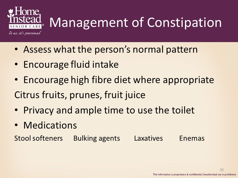 Management of Constipation