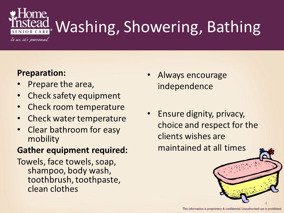 Washing, Showering, Bathing